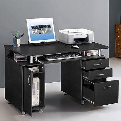 Amazon Com Super Storage Computer Desk Home And Office Furniture
