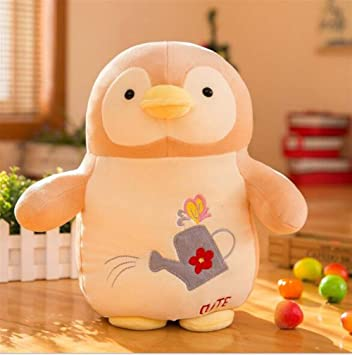 SUxian Adorable pingüino Suave Felpa Juguete Creativo muñeco de Peluche Kid Regalo 40 cm (Beige