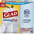 Glad ForceFlexPlus Tall Kitchen Drawstring Trash Bags - Unscented -13 Gallon - 80 Count (Packaging May Vary)