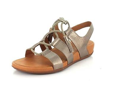 b98f338f260fdb FitFlop Gladdie Lace-Up Leather Sandal - Bronze Womens Sandals 8 UK ...
