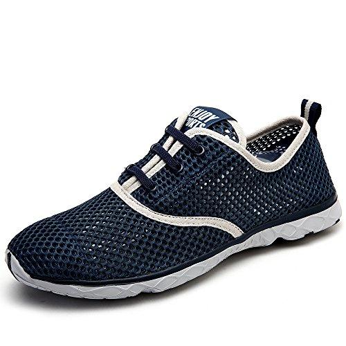 Aleader Men's Quick Drying Aqua Water Shoes Blue 7 D US