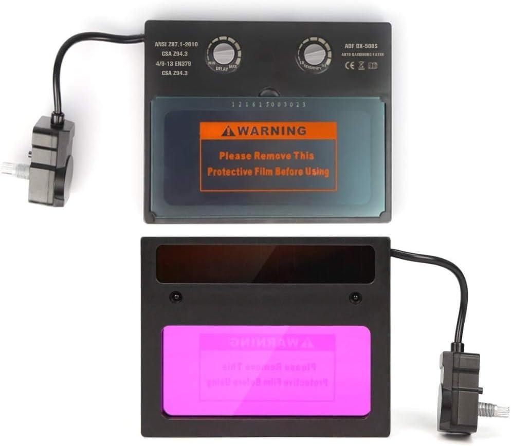 Masque de soudage /électrique mont/é sur la t/ête Masque de soudage Solaire Gradation Automatique Protection r/églable d/électricien de Soudure dassombrissement Automatique de lentille de Soudure