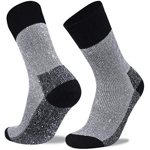 RTZAT Wool Hiking Outdoor Trekking Moisture Wicking Cushion Muti Performance Crew Socks for Men&Women, S/M/L/XL, 1/4 Pairs