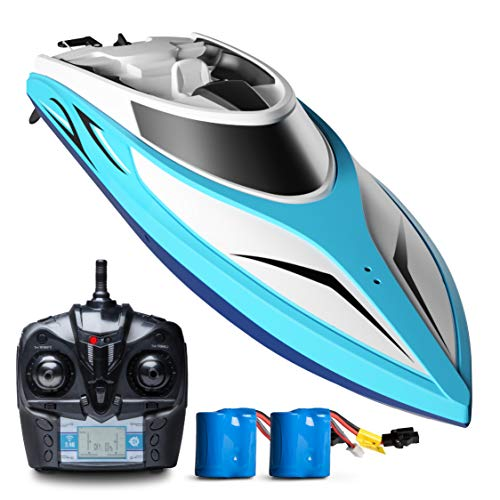 Remote Control Boats for Pools and Lakes - H102 Remote Controlled RC Boats for Kids or Adults, Self Righting High Speed Boat Toys for Boys or Girls (R/c Mini Electric Helicopter)