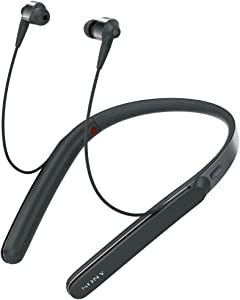 Sony WI1000X Premium Noise Cancelling Wireless Behind-Neck In Ear Headphones (International version/seller warranty) (Black)