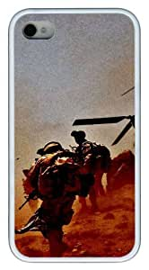 iphone 4 case fashion US Troops TPU White for Apple iPhone 4/4S