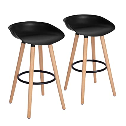 Cool Furniturer Bar Chair Pub Bar Height Barstool Modern Industrial Dining Bar Stool Chairs With Pp Seat Backrest And Wooden Leg Set Of 2 For Coffee Shop Caraccident5 Cool Chair Designs And Ideas Caraccident5Info