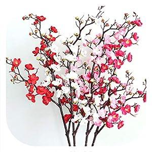 Memoirs- Artificial Long Branch Plum Blossom Simulation Silk Peach Blossom for Wedding Decoration Accessory Home Office Decor 46