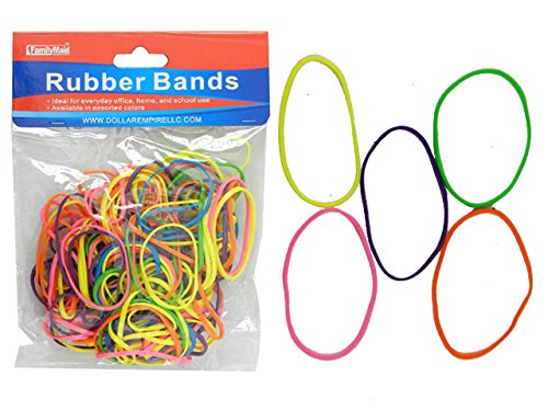Rubber bands 100 Gms Assorted Colors