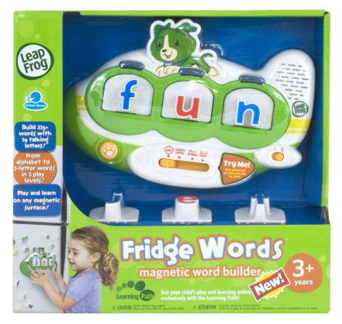Leapfrog fridge words magnetic word buildertoy80 20320e for Leapfrog three letter words
