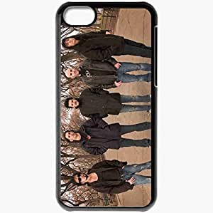 Personalized iPhone 5C Cell phone Case/Cover Skin Anthrax Trees Autumn Jackets Glasses Black