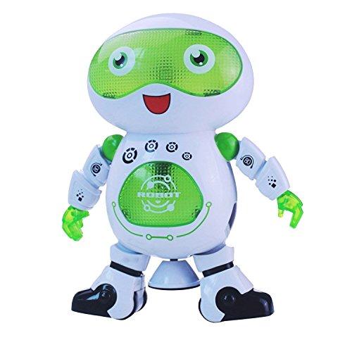 image robot de télécommunication tournante intelligent et charismatique avec musique et lumières pour beaux joueurs, discothèques et acclamations robot rc, yeux clignotants et la poitrine ...