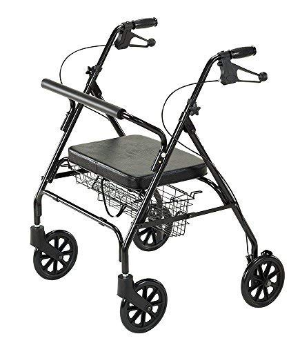 Cardinal Health CRL0009B Bariatric Rollator with Basket, 23.5 in. Seat Height, Supports 400 lbs. (Cardinal Basket)