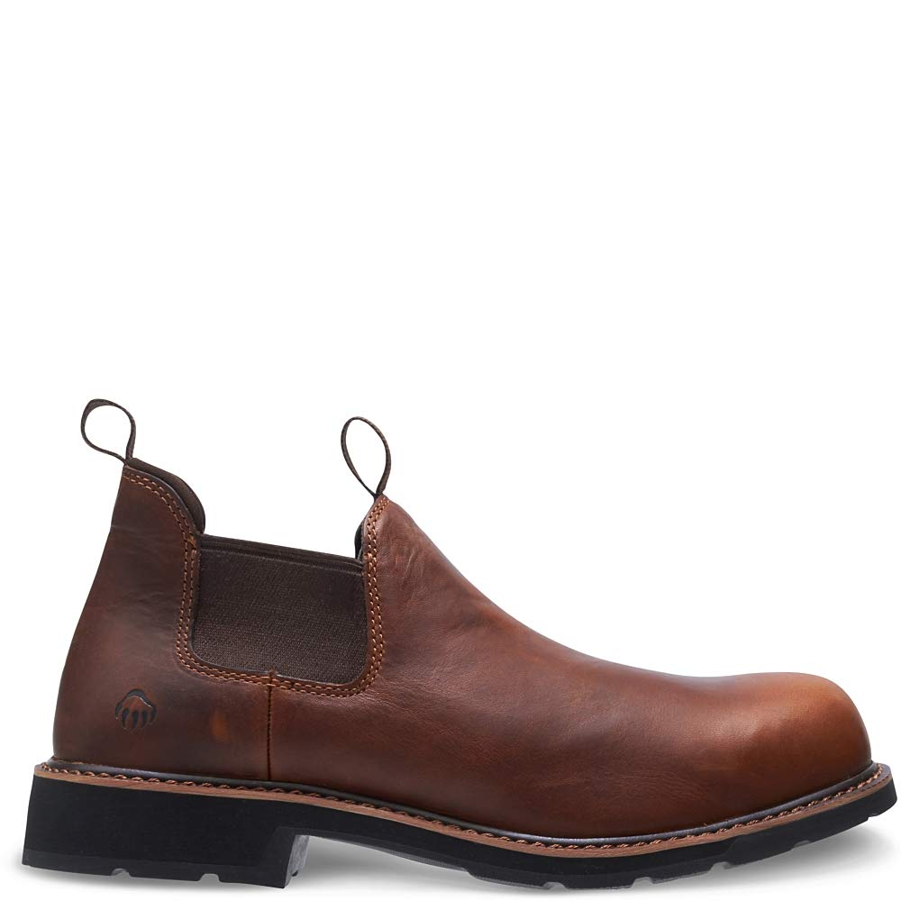 Wolverine Men's Ranchero Romeo Steel Toe Industrial Shoe, Pull-On Peanut, 7 Medium by Wolverine