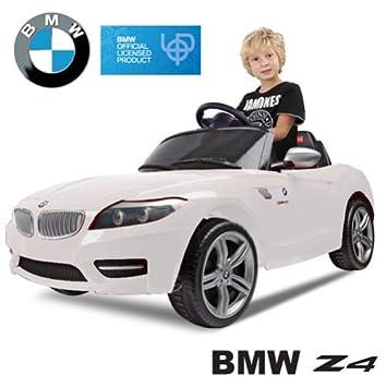 Original BMW Z4 License - Coche con Motor y Batería de Coches para Niños con Control Remoto (blanco): Amazon.es: Juguetes y juegos