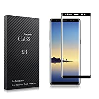 NiocTech Galaxy Note 8 Full Cover Glass Screen Protector, 3D 9H Curved Mobile Phone Screen Protector For Samsung Galaxy Note 8 [Black] by NiocTech