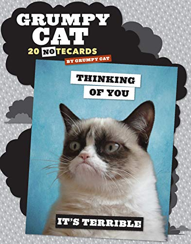 Grumpy Cat Notecards: 20 Notecards & Envelopes (Grumpy Cat Stationery, Greeting Card Gift for Cat Lover)
