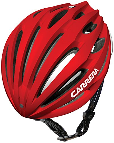 Price comparison product image (PK) 2014 Carrera E0434 Nitro Road Helmet Shiny Red / White Large / Xlarge 58-61cm
