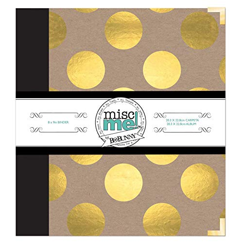Bo Bunny Misc. Me Binder Life Journal, 8 x 9, Gold