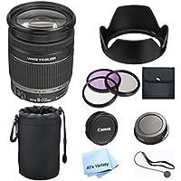 Canon EF-S 18-200mm F/3.5-5.6 IS Lens Premium Bundle (White Box)