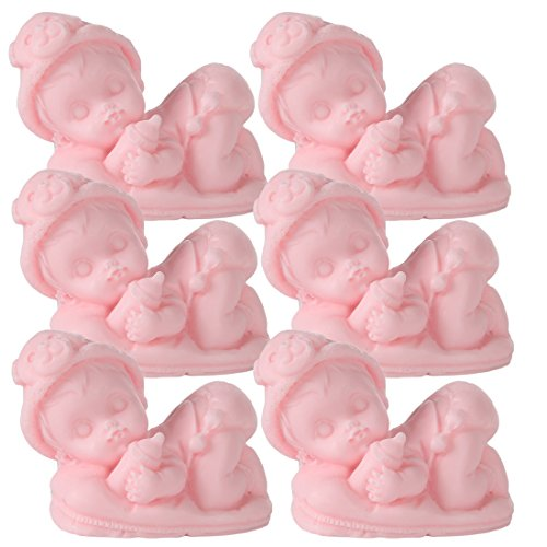 Lily's Home Sleeping Baby Soaps – Unique Premium Handmade Soap. The Perfect Baby Shower Gifts. Set of 6 (Pink)