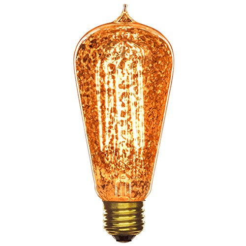 - Sunlite 40S19/AQ/T/GF 40-watt  Antique Edison S19, Medium Base, Golden Fleck