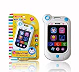 A-forest Baby Phone Toy Touch Swipe Screen Learning with 7 Pretend Apps and 3 Function Modes-Shock Resistant Baby Cell Phone Study Educational Telephone Toys for kids(White)