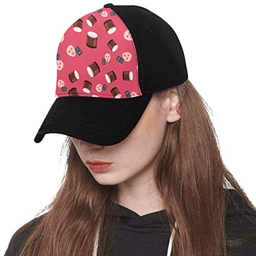 Front Panel Custom Mask Skin Care Products Hand-Painted Printing Baseball Hat Adjustable Size Curved Cap for Hip-hop Sports Summer Beach Outdoor Activities Unisex