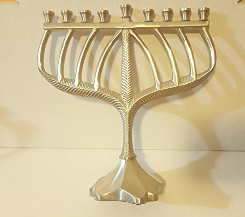 (Beautiful Traditional Classy Menorah (Pewter Finish) )