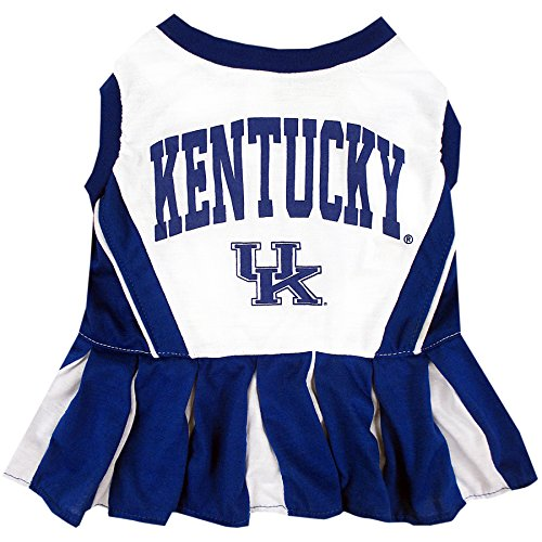 NCAA Kentucky Wildcats Dog Cheerleader Outfit, X-Small]()