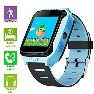 Amazon.com: Kids Smartwatches with GPS Flash Night Light ...