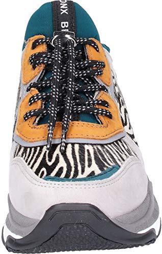 zebra Grigio Grey Donna Sneaker Bronx Zebra Light Chunky Baisley qtAcz