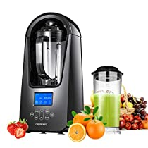 OMORC Pro Blender, Vacuum Blender for Completely Nutrition Released, 21000RMP Smoothie Blender & Ice Crusher BPA-Free with 2 Tritan Jar (51oz & 27oz) and Recipe Book, One-Click Self Cleaning Function