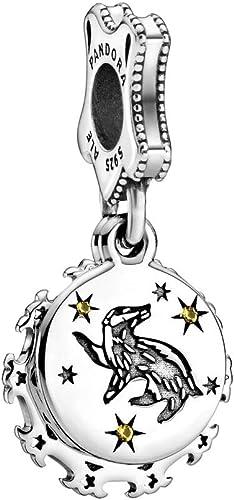 PANDORA Harry Potter, Hufflepuff 925 Sterling Silver Dangle Charm -  798832C01