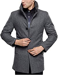 Men's British Single Breasted Slim Wool Coat