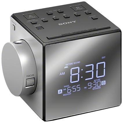 Sony ICF-C1PJ - Radio Despertador con proyector de Tiempo ...