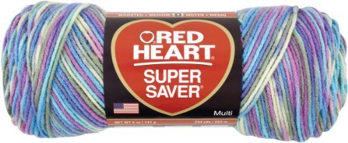 Coats Yarn Red Heart Super Saver Yarn-Monet, Other, Multicoloured by Coats: Yarn