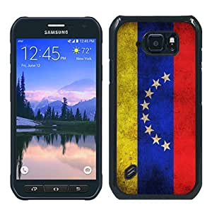 Samsung Galaxy S6 Active Case,Venezuela Venezuelan Flag Black Samsung Galaxy S6 Active Phone Case