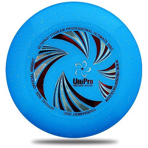 175G Professional Ultimate Disc Ultipro Ultimate Frisbee Wfdf Approved Wave  Light Blue