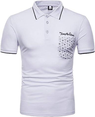 Polo Shirt Mens T Short Shirt Top Casual Modernas Summer Sleeve ...