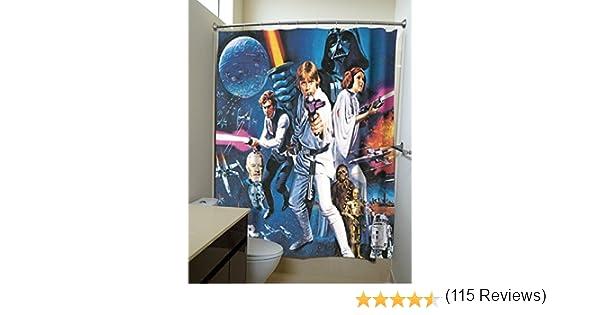 Póster de la película Star Wars: Una nueva esperanza cortinas de ducha: Amazon.es: Hogar