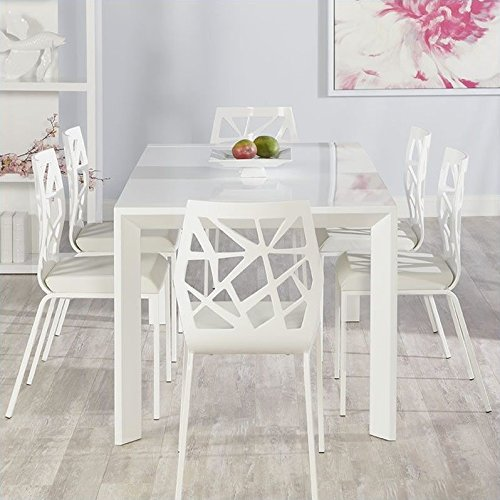 Eurostyle Adara Sophia 7 Piece Dining Set in White