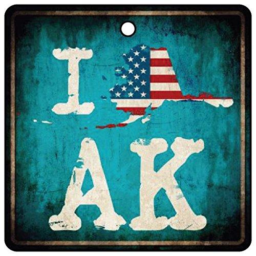 I Love Alaska Frontier State Car Air Freshener
