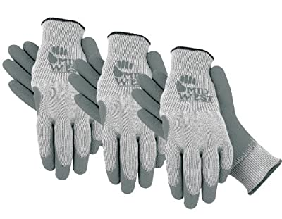 Midwest Gloves & Gear Pack Textured Rubber Coated Knit Liner Glove