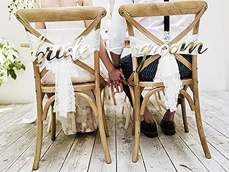 Stuhl Schilder Brautpaar Hochzeit Gold Amazon De Spielzeug