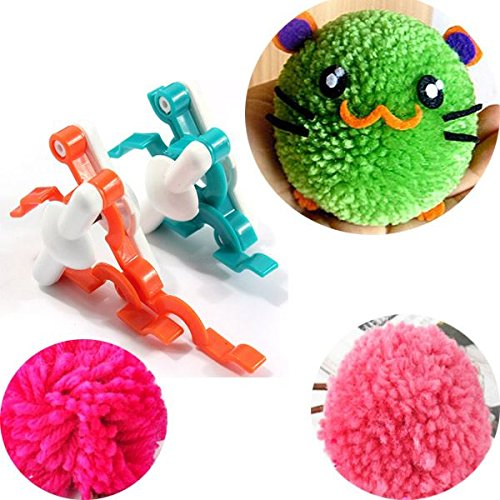 2pcs Pompom Maker Fluff Ball Knitting Wool Bobble Weaver Needle