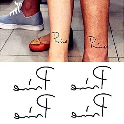 Oottati Tatuajes Temporales Tobillo Inglés Primer (Juego De 2 ...