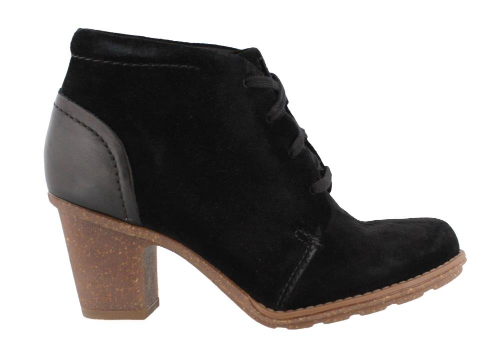 CLARKS Women's Sashlin Sue Ankle Bootie B071WBHZ1F 085 N US|Black Suede/Leather Combo