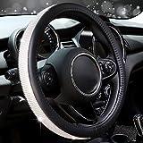 COFIT Crystal Steering Wheel Cover, Diamond Like, Microfiber Leather, Fashionable, Universal S 14-14 2/5 Inch