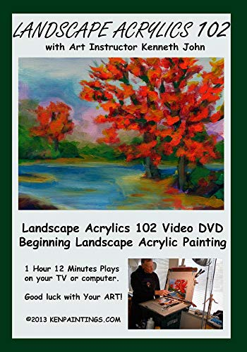 Landscape Acrylics Painting - Painting Video Acrylic